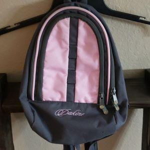 Dakine Mini Backpack, pink and gray